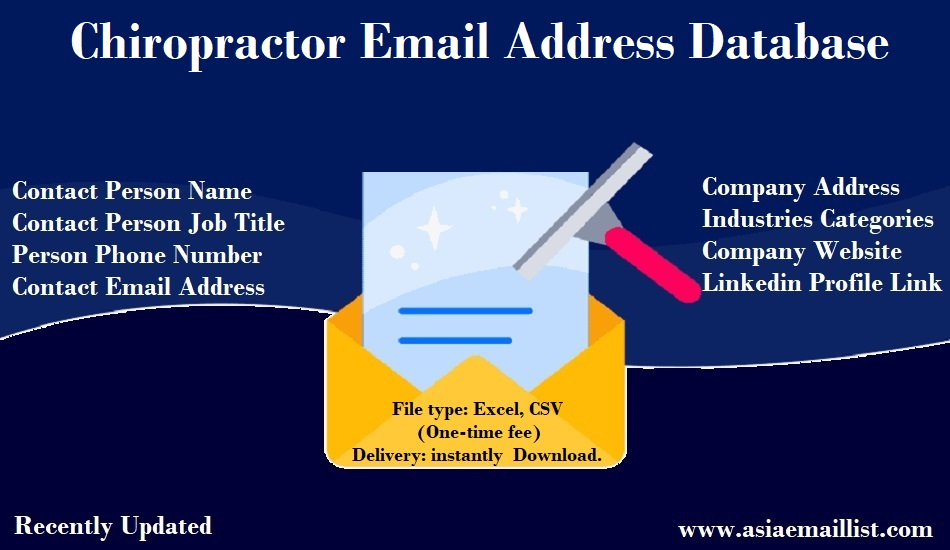 Chiropractor Email Address Database
