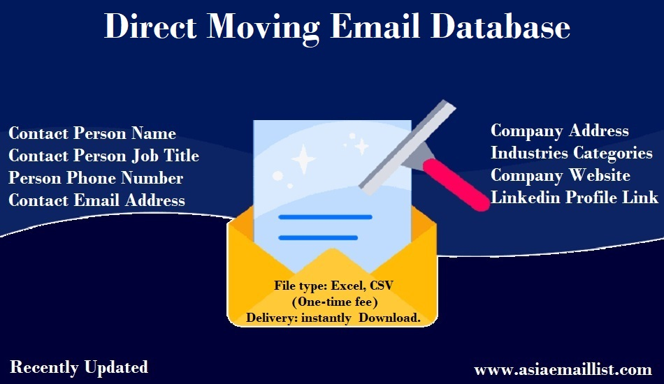 Direct Moving Email Database